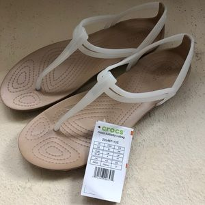 Crocs Isabella Sandal white and tan